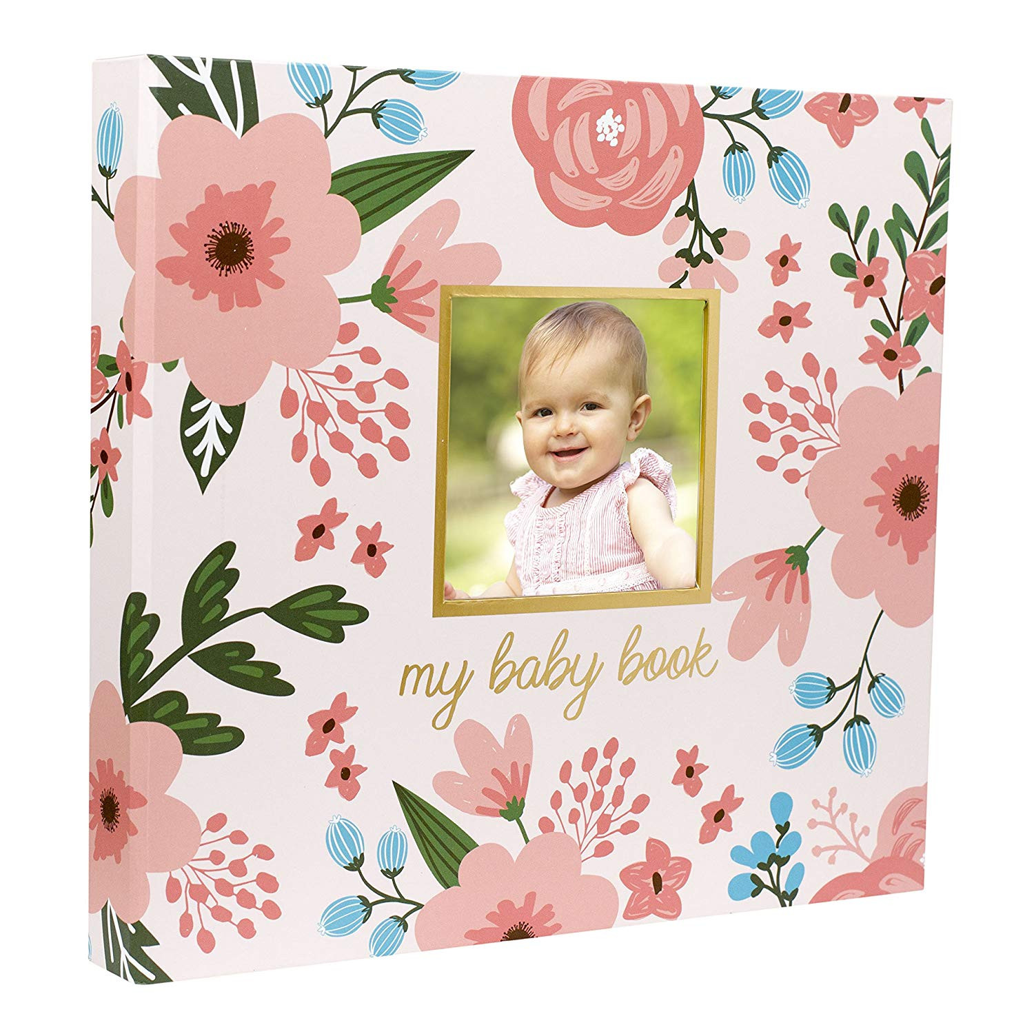 Amazon Pearhead Memory Book with Included Baby Belly Stickers Floral Baby