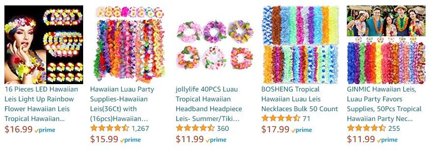 Hawaiian Flower Leis in Amazon (amazon.com)