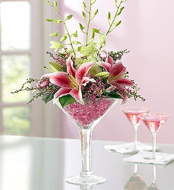 Glass Flower Arrangements (Pinterest)