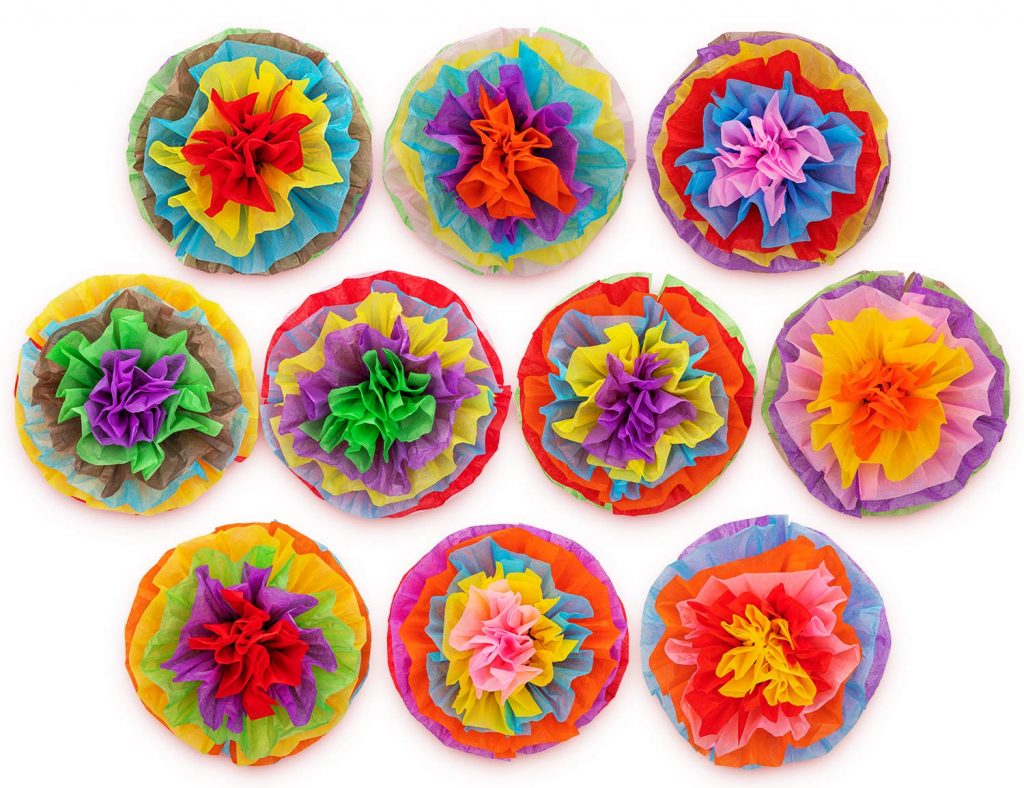 Mexican Tissue Paper Flowers For Cinco De Mayo (Amazon.com)