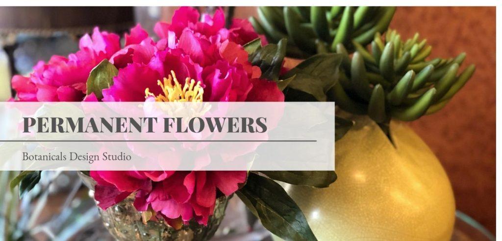 Real Flowers Vs Permanent Botanicals (Botanicals Design Studio)