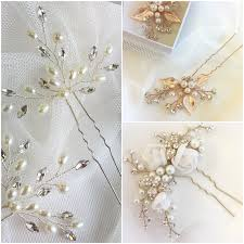 Add Sparkle To Your Wedding With Flower Clips For Hair (Lace & Facour)