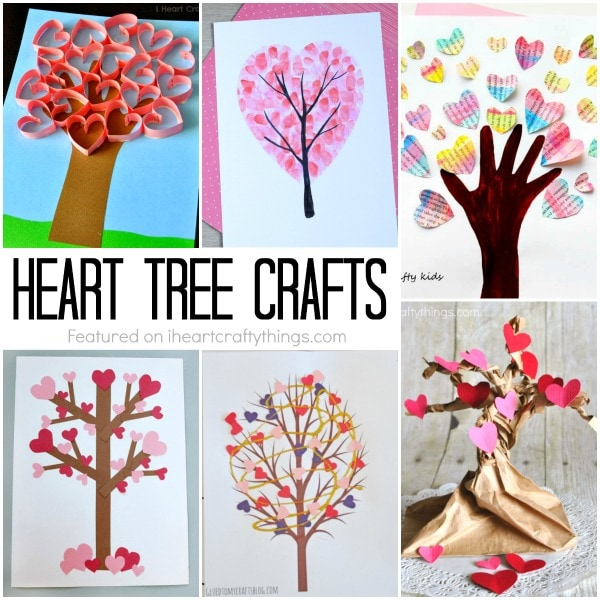 Incredibly Sweet Valentine's Day Heart Tree Crafts (I Heart Crafty Things)
