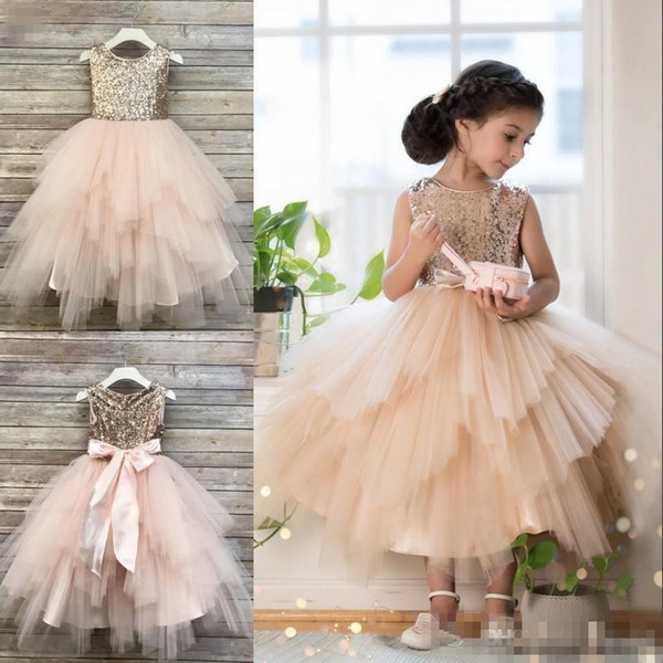Tulle Tiered Ballgown - Colorful Flower Girl Dresses (DHGate.com)