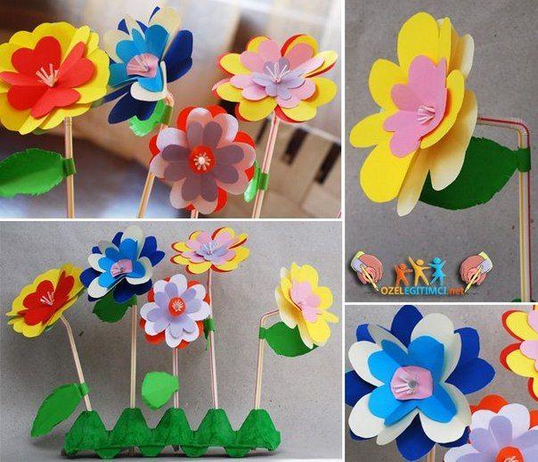 Valentine Flowers And Crafts For Children (Pinterest)
